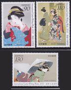 Japan International Letter Writing Week 2010 Painting Set Of 3 MNH - 1989-... Emperor Akihito (Heisei Era)