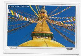 (RECTO / VERSO ) NEPAL - KATHMANDU - BOUDDHANATH STUPA  - BEAU TIMBRE - CPM GF VOYAGEE - Nepal