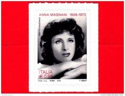 Nuovo - MNH - ITALIA - 2016 - Anna Magnani (1908-1973), Attrice -  Italian Artistic And Cultural Heritage - 0,95 - 1946-.. République