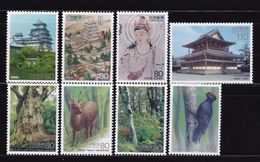 Japan 1994-95 World Heritage Series Set Of 8 MNH (jjc1503-10) - 1989-... Emperor Akihito (Heisei Era)