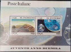 Italy, 2000, Mi. 2667-68 (bl. 20), Sc. 2323, SG 2590, New Millennium, Space, MNH - Space
