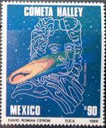 Mexico, 1986, Sc. 1437, Mi. 1983, Halleys Comet, Space, MNH - Space