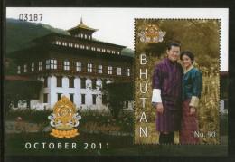 Bhutan 2011 Royal Wedding King Jigme Wangchuck & Jetsun Prema M/s MNH # 12856 - Bhután