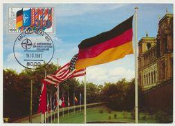AK  München Flaggen Anlässlich Der Nato Konferenz Mit Sondermarke Und Stempel - Muenchen
