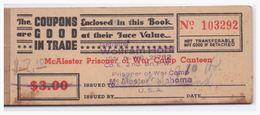 Dt- Reich (005132) Kriegsgefangenen Couponheft Camp Mc Alester Oklahoma Nicht Komplett!! - Deutschland
