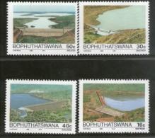 Bophuthatswana 1989 Dams Irrigation River Architecture Lake Sc 216-19 MNH # 148 - Bophuthatswana