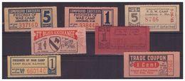 Dt- Reich (005133) Kriegsgefangenen Coupons Von Verschieden Camps!! - Deutschland