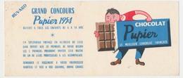 Buvard  20.6 X 8.9 Chocolat PUPIER Grand Concours 1954 - Cocoa & Chocolat