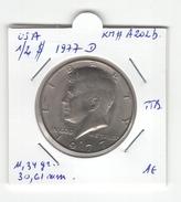 USA. Half Dollar, 1/2 $ 1977 D. KM # A202b. TTB - Federal Issues
