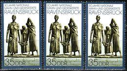 A11-56-1) DDR - 3x Mi 3274 - ** Postfrisch - 35Pf   Gedenkstätte Ravensbrück - Neufs