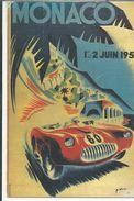 SPORTS MONACO GRAND PRIX 1ER ET 2 JUIN 1952 ILLUSTATEUR MINNE EDITEUR LA CIGOGNE - Grand Prix / F1