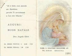 CALENDARIETTO 1991 PARR.S.GIACOMO MAG. AP MESSINA - Calendari