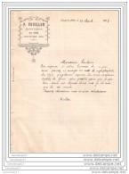 36 115 LUCAY LE MALE Au FOIX Marchand De Mouton P. VOUILLON 1908 Achat 60 Sacs Superphosphate - Agriculture