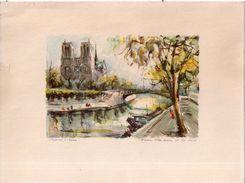 Marius Gérard  - Paris Notre-Dame Et La Seine - Lithographies