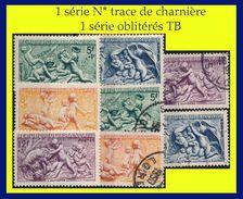 N° 859 À 862 LES SAISONS - SCULPTURES DE BOUCHARDON 1949 - SÉRIE COMPLÈTE N* TRACE DE CHARNIÈRE + OBLITÉRÉS B / TB - - France
