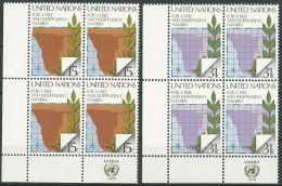 UNO NEW YORK 1979 Mi-Nr. 336/37 Eckrandviererblocks ** MNH - New York -  VN Hauptquartier