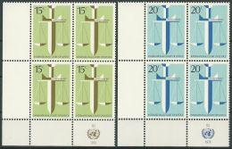 UNO NEW YORK 1979 Mi-Nr. 338/39 Eckrandviererblocks ** MNH - New York -  VN Hauptquartier