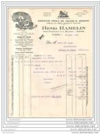 89 - 81 AUXERRE YONNE 1930 Manufacture Couleurs De Bourgogne HENRI HAMELIN Usine Hydraulique La Maladiere Mastic Vernis - France