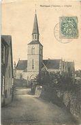 - Dpts Div.-ref-WW703- Mayenne - Martigne - L Eglise Et Rue - Carte Bon Etat - - Altri Comuni