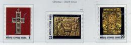 PIA  -  CIPRO  GR.  -  1993  : Natale -   - (Yv  818-20) - Cyprus (Republic)