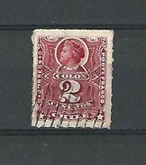 1894 COLON  CHILE 2 CENTAVOS OBLITÉRÉ  DOS CHARNIÈRE - Chile