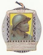 Insigne En Carton Journée De L'Armée D'Afrique Et Des Troupes Coloniales - 1917 - Insignes & Rubans