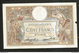 "FRANCE - BANQUE De FRANCE - 100 FRANCS ""LUC OLIVIER MERSON"" (BN. 7 - 2 - 1935) - 1871-1952 Antichi Franchi Circolanti Nel XX Secolo"