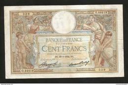"""FRANCE - BANQUE De FRANCE - 100 FRANCS """"LUC OLIVIER MERSON"""" (DG. 29 - 3 - 1934) - 1871-1952 Antichi Franchi Circolanti Nel XX Secolo"""