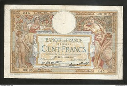 "FRANCE - BANQUE De FRANCE - 100 FRANCS ""LUC OLIVIER MERSON"" (LN. 22 - 12 - 1932) - 1871-1952 Antichi Franchi Circolanti Nel XX Secolo"