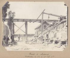 AUBERVILLIERS : Construction Passage Inférieur Vers Canal Saint Denis, 13 Juin 1913. Quadruplement Paris Photo Original - Eisenbahnen