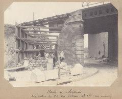 AUBERVILLIERS : Rue St Denis, Construction Passage Inférieur, 9 Juin 1913. Quadruplement Ligne Paris . Photo Originale - Trains