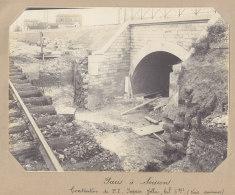 LA COURNEUVE : Impasse Jollois. Construction Passage Inférieur, 9 Juin 1913. Quadruplement Ligne Paris . Photo Originale - Trains