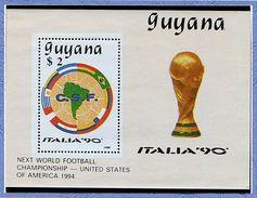 "Guyane ** N° 2050Z En Bloc - ""Italia 90"" Coupe Du Monde Dr Foot - - Guyane (1966-...)"