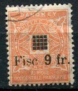 DAHOMEY TIMBRE FISCAL N°114 O - Dahomey (1899-1944)