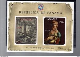PANAMA MICHEL BLOC 78** SUR DES TABLEAUX ANIMALIERS - Panama