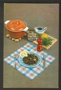 K2 USSR Soviet Postcard Mushroom Champignons Stewed Recipe In Russian At Back Side Cooking Food Advice To Housewives - Recipes (cooking)