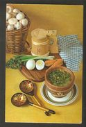 K2 USSR Soviet Postcard Mushroom Soup W/ Beef & Champignons Recipe In Russian At Back Side Cooking Advice To Housewives - Recipes (cooking)