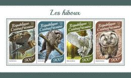 CENTRAL AFRICA 2017 MNH** Owls Eulen Hiboux M/S - IMPERFORATED - DH1753 - Eulenvögel