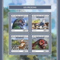 DJIBOUTI 2017 MNH** Pigeons Doves Tauben M/S - OFFICIAL ISSUE - DH1753 - Columbiformes