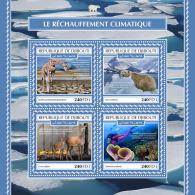DJIBOUTI 2017 MNH** Climate Change Klimawandel Rechauffement Climatique M/S - OFFICIAL ISSUE - DH1753 - Protección Del Medio Ambiente Y Del Clima