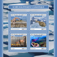 DJIBOUTI 2017 MNH** Polar Bears Eisbären Ours Polaires Climate Change M/S - OFFICIAL ISSUE - DH1753 - Ours