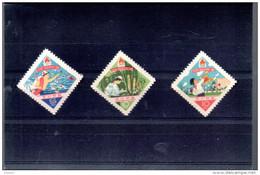 COREE DU NORD 298/300** SUR L ANNIVERSAIRE DES JEUNES PIONNIERS - Corée Du Nord
