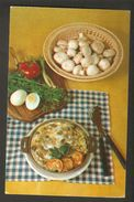K2 USSR Soviet Postcard Scrambled Omelette Champignons Recipe In Russian At Back Side Cooking Food Advice To Housewives - Recipes (cooking)