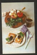 K2 USSR Soviet Postcard Sandwiches With Mushrooms Champignon Recipe In Russian At Back Side Cooking Advice To Housewives - Recipes (cooking)