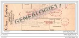 38 126 DECINES ISERE Ets GIFRER Et  BARBEZAT 1955 Dest Mr PIOLAT Graveur 322 Cours Emile Zola ˆ VILLEURBANNE - France