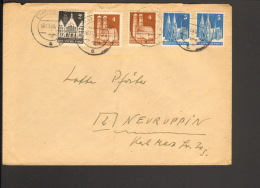 Bizone 2,2 X 4 U.2 X 5 Pfg.Bauten  Auf Brief A. Husum V. 1948 - Bizone