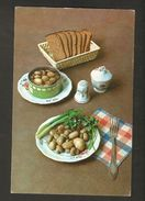K2 USSR Soviet Postcard Mushrooms Champignon Pickled Recipe In Russian At Back Side Food Cooking Advice To Housewives - Recipes (cooking)
