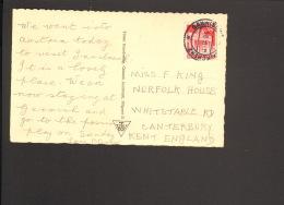 Bizone 20 Pfg.Bauten Auf Auslandspostkarte (Ansichtskarte V.Innsbruck) Nach England  Aus Garmisch-Partenkirchen V. 1950 - Bizone