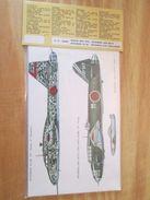 DEC514 Planche De Décals Additionnels ESCI Années 70/80 BOMBARDIERS JAPS Ki-109, BETTEY RITA ET PEGGY  Complète Et Non C - Transfer