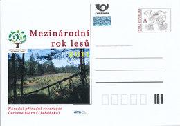 Tschech. Rep. / Ganzsachen (Pre2011/10) Internat. Jahr Der Wälder (2010) Nationales Naturschutzgebiet Red Mire (Trebon) - Umweltschutz Und Klima